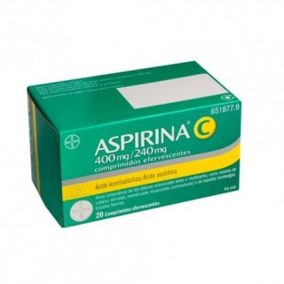 ASPIRINA C 400/240 MG 20 COMPRIMIDOS EFERVESCENT