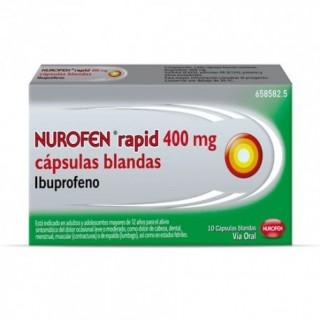 NUROFEN RAPID 400 MG 10 CAPSULAS BLANDAS