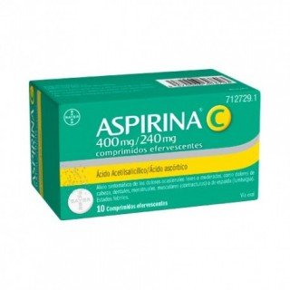 ASPIRINA C 400/240 MG 10 COMPRIMIDOS EFERVESCENT