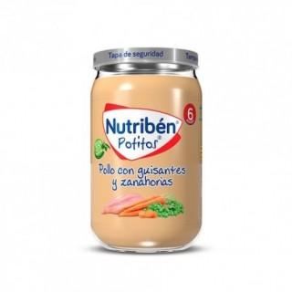 NUTR POLLO CON GUISANTES Y ZANAHORIAS