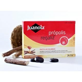JUANOLA PASTILLAS PROPOLIS CON REGALIZ